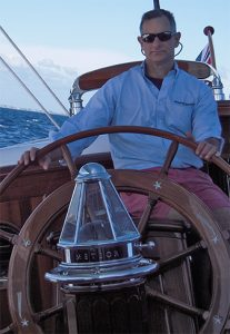 John Clayman at the helm of Meteor